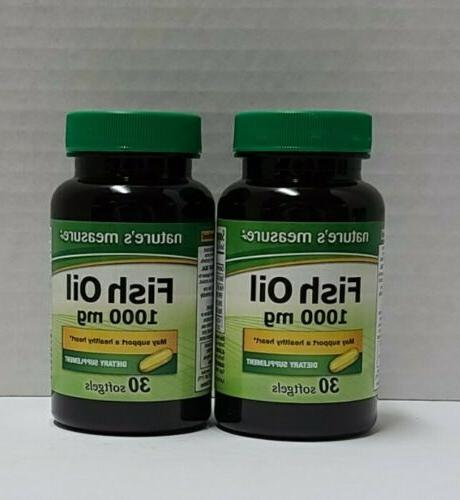 2 bottles nature s measure 1000 mg