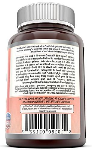 Amazing Omega Salmon Oil 1000mg of joint & brain and response