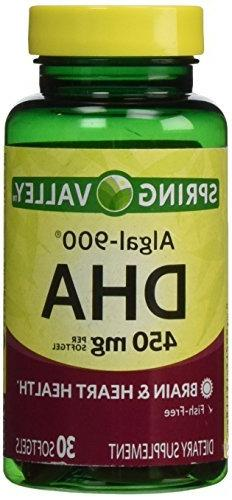 Spring Valley - ALGAL-900, DHA 450 mg, 30 Softgels by Spring