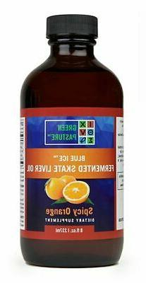 Green Pasture Blue Ice Fermented Skate Liver Oil - Spicy Ora