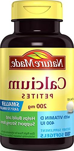Nature Made Calcium Petites 200 Mg with Vitamin D Softgels,