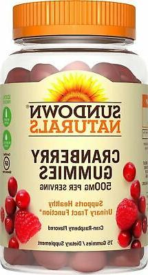 Sundown Naturals Cranberry Dietary Supplement Gluten-Free Gu