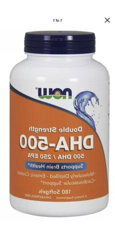 Now Foods DHA 500 mg - 180 Softgels SUPPORTS BRAIN & HEART H