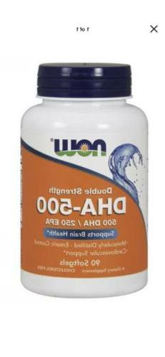 DHA-500 mg Double Strength 90 Gels Now Foods Brain Memory FA