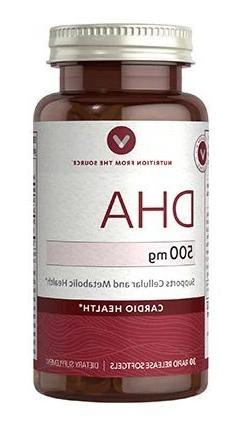 Vitamin World DHA 500 mg Supports Cellular and Metabolic Hea