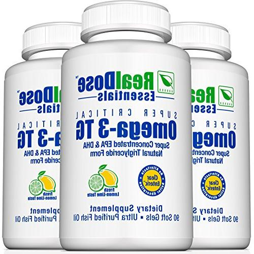 Doctor Formulated Fish Oil Pharmaceutical Fish Oil Supplement with 2,400 of + mg per Serving Softgels
