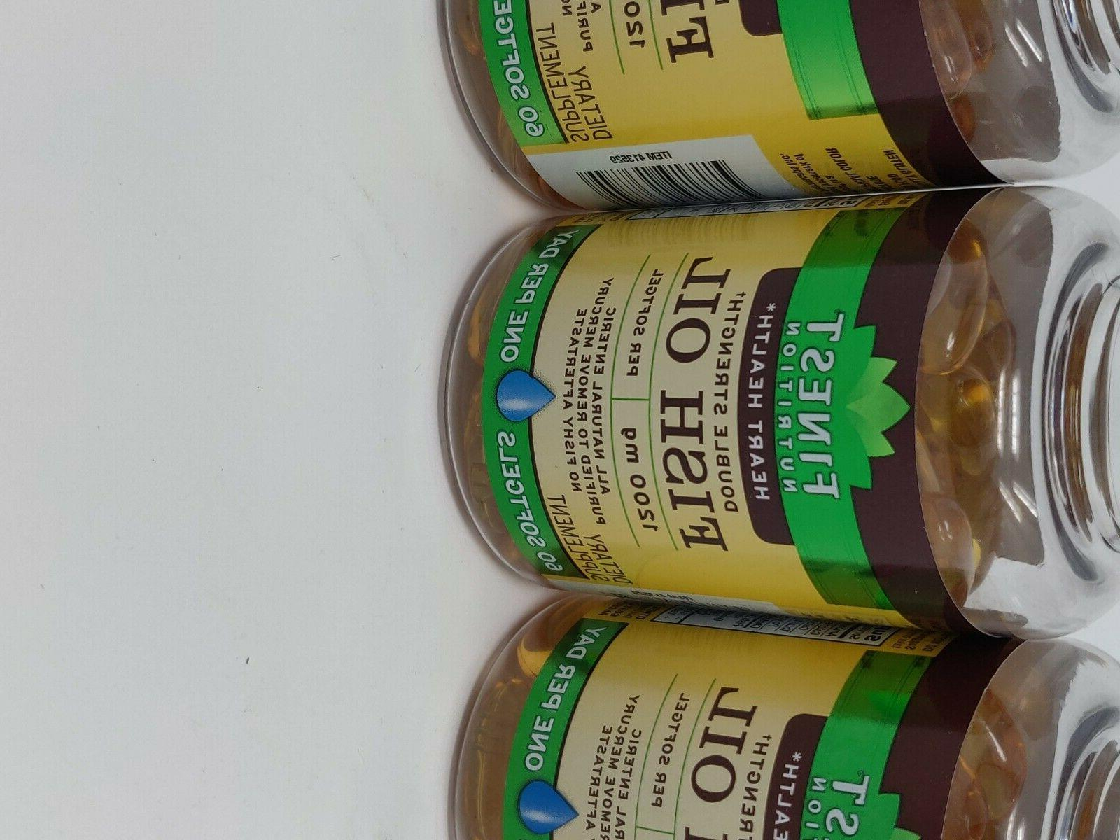 Finest Nutrition Double Fish Oil Softgels count