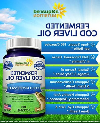 Fermented - Fish Pills of Omega Acids, Vitamin A Skin, Joint, Heart Health