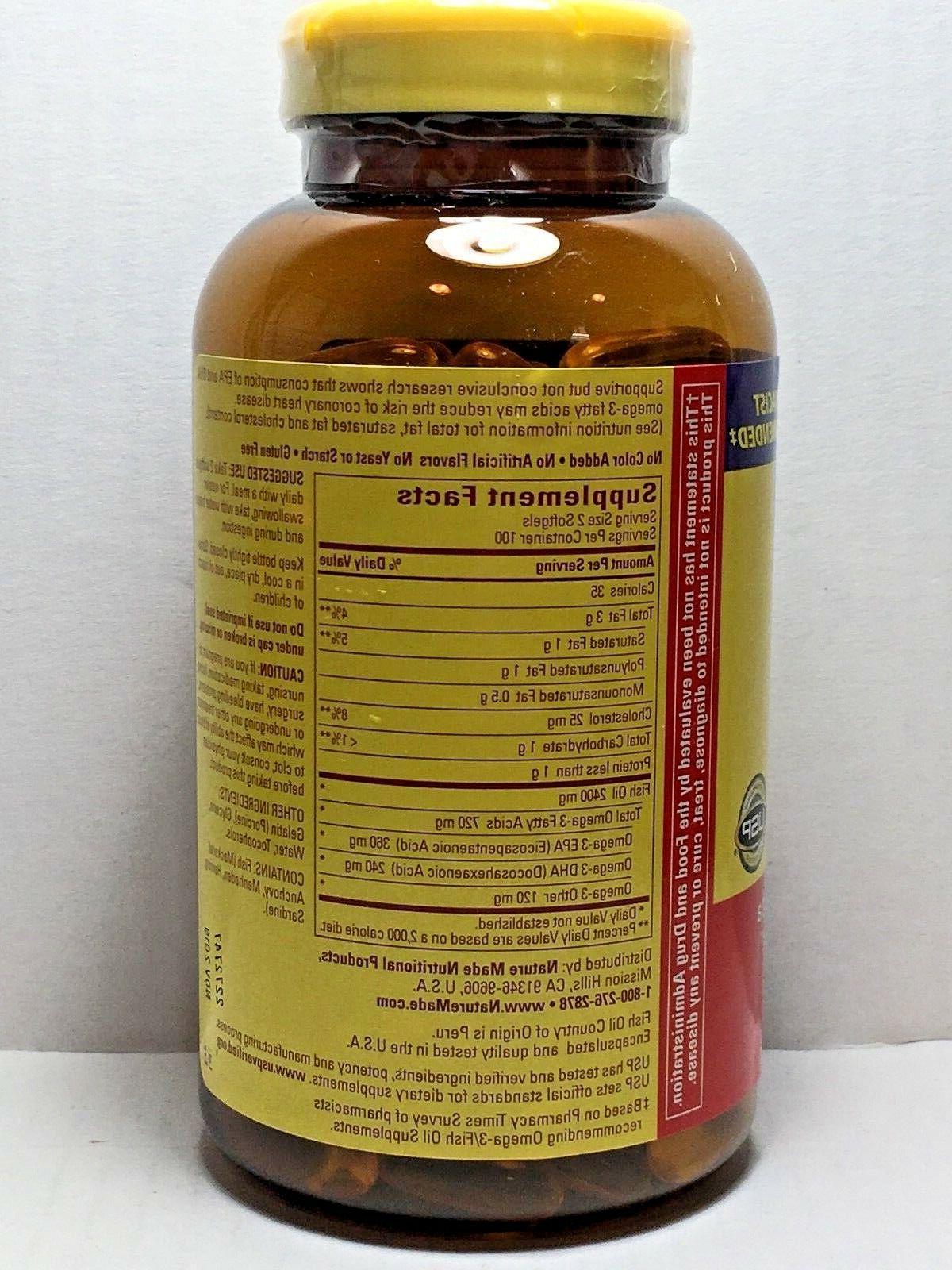 Nature Made Fish Oil 1200 360mg