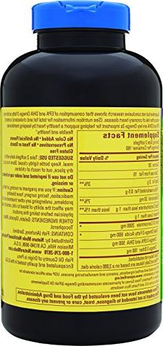 Nature Made 1000mg, Omega 3 300mg, Burp-Less Count