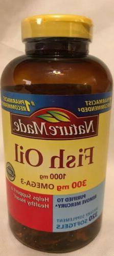 Nature Made Fish Oil 1000 mg w. Omega-3 300 mg, 320 Softgels