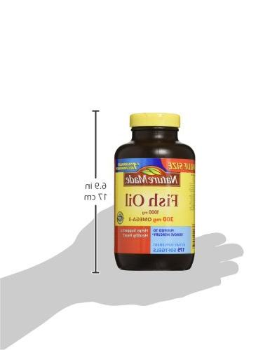 Nature Made Fish 1000 300 mg Softgels Value Size 175 Ct