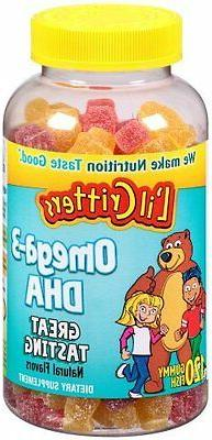 L'il Critters Omega-3 Gummy Fish with DHA, 120 Count, Pack o