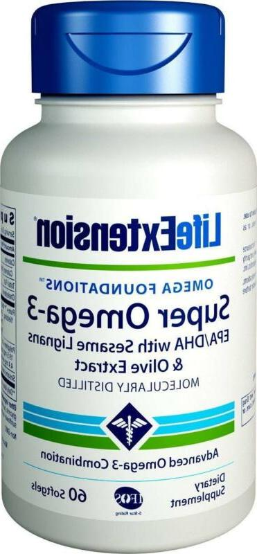 Life Extension Super Omega-3  Epa/Dha With Sesame Ligans And