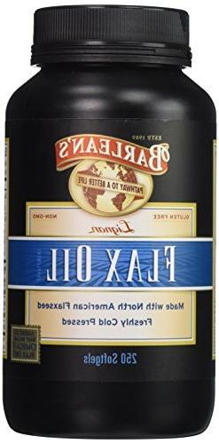 Barlean's Organic Oils High Lignan Flax Oil, 250 Count by Ba
