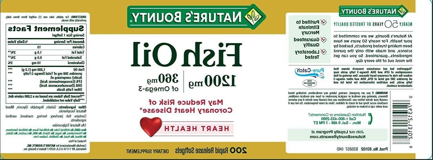Nature's Fish Oil, 1200 mg Rapid S