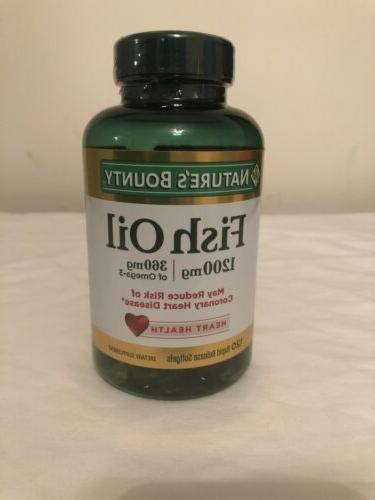 Nature's Bounty & 6 Oil 1200mg 120 Pieces Exp
