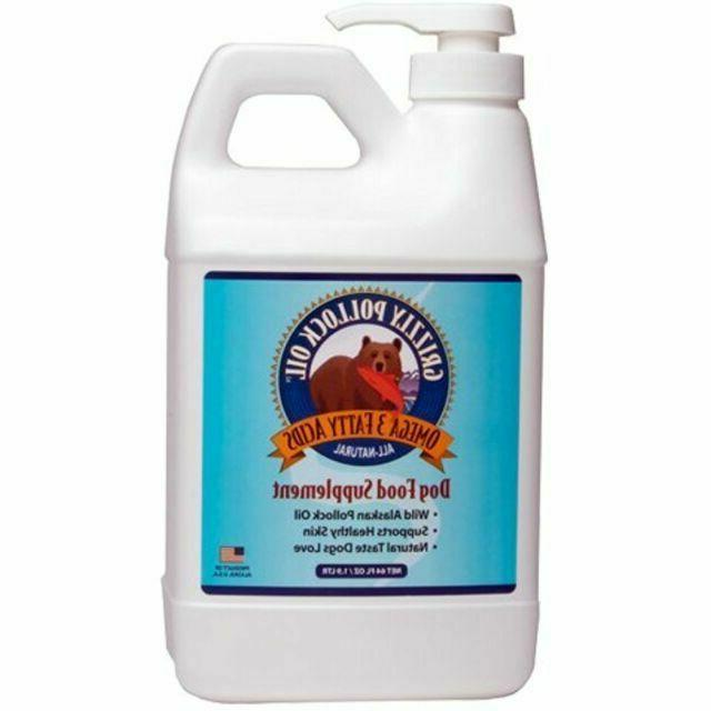 Grizzly Pollock Oil Supplement for Dogs, 64-Ounce