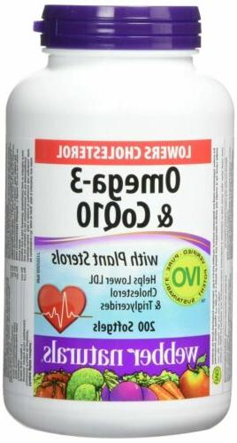 Webber Naturals Omega-3 & Coq10 with Plant Sterols, 200 Soft