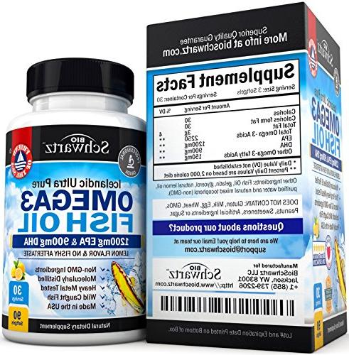 Omega Fish Oil Supplement 900mg & Acid Combination Support Promotes Joint, Eyes, Brain & Health