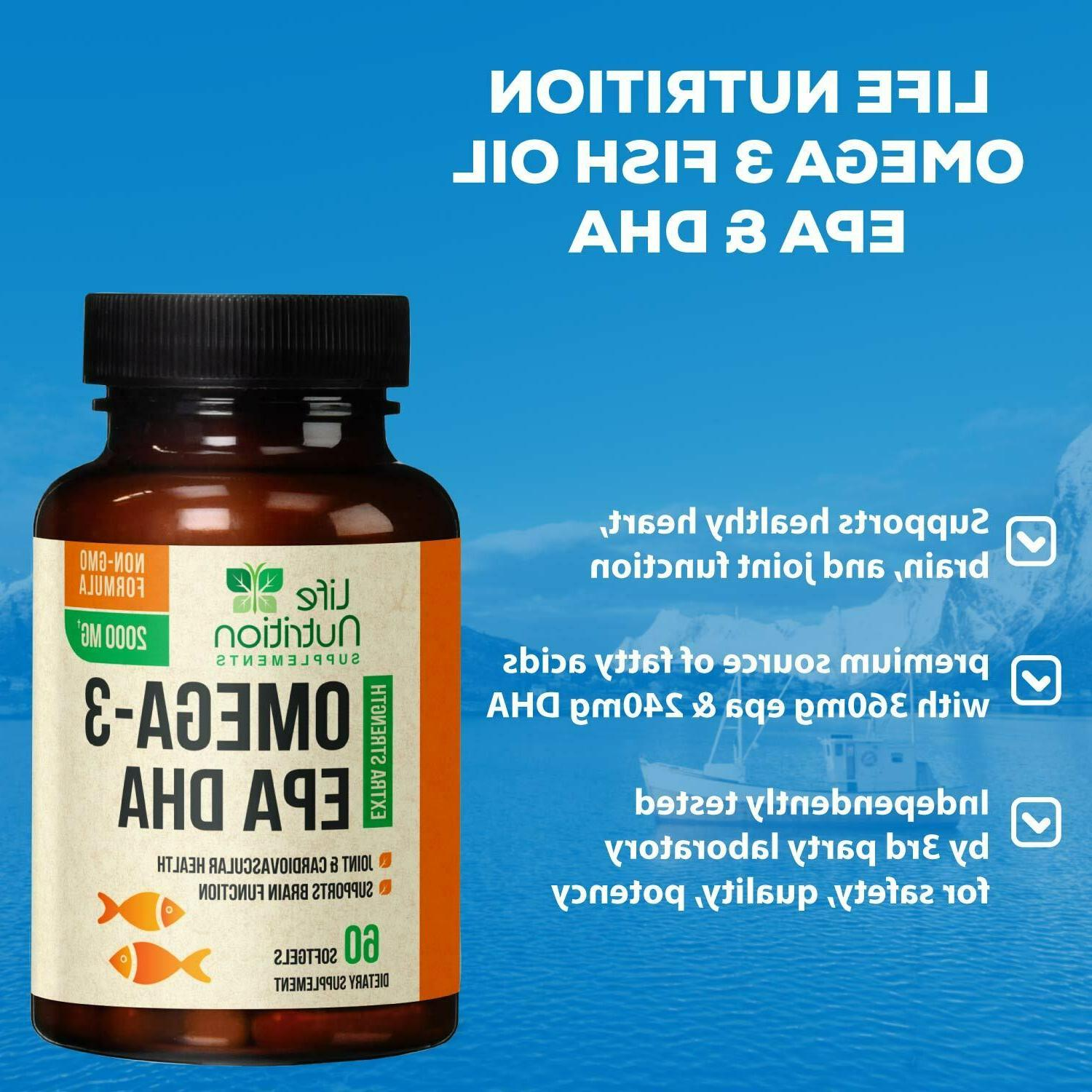 Omega 3 Capsules Strength EPA 60 softgels