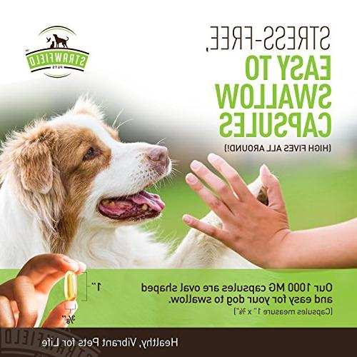 Omega 3 for Dogs, Pills, DHA Dog Fish Pet for Joint Support Arthritis Allergy Shedding, Healthy Coat, Itching Skin, Hot