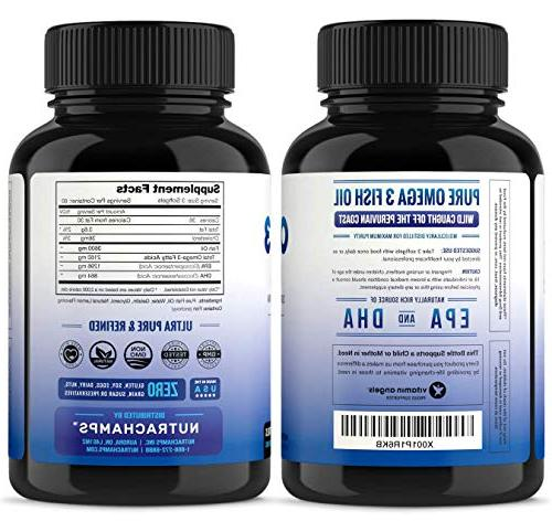 3600mg, EPA 1296mg, DHA 864mg Burpless - Concentration Available Support, Immune, Heart Brain,