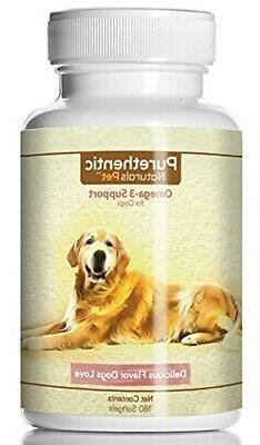 Omega 3 for Dogs Pure Fish Oil for Dogs 180 Softgels Natural