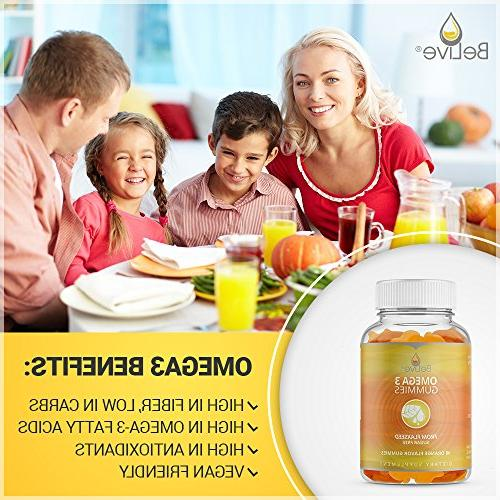 Omega for Adults - Better Than Fish Oil, Made & Sugar-Free, Kosher Certified 40 Count