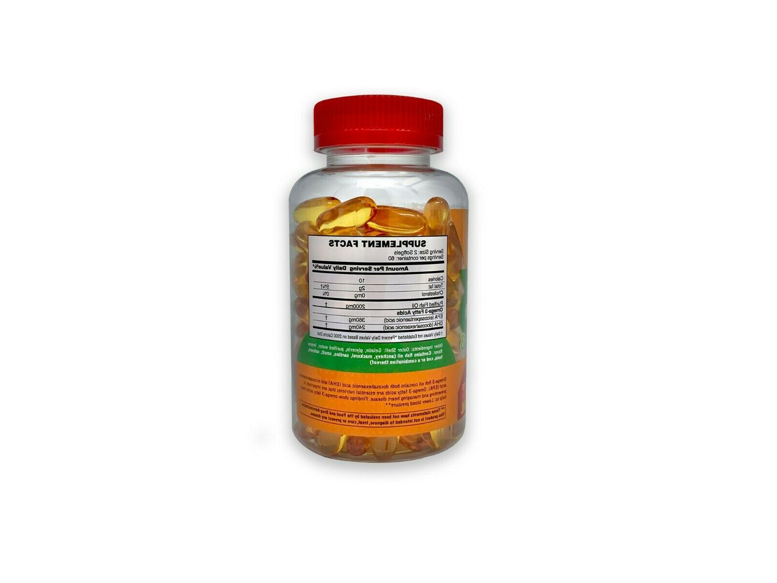 POWERS 3 Fish Oil Softgels High , 120 count