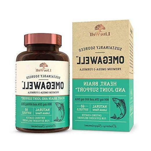 OmegaWell Fish Oil Heart, Brain, And Joint Support 800 Mg EP