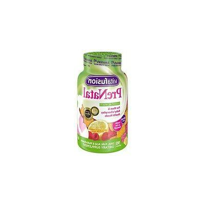 Vitafusion Prenatal Dha And Folic Acid Gummy Vitamins, 90 ea