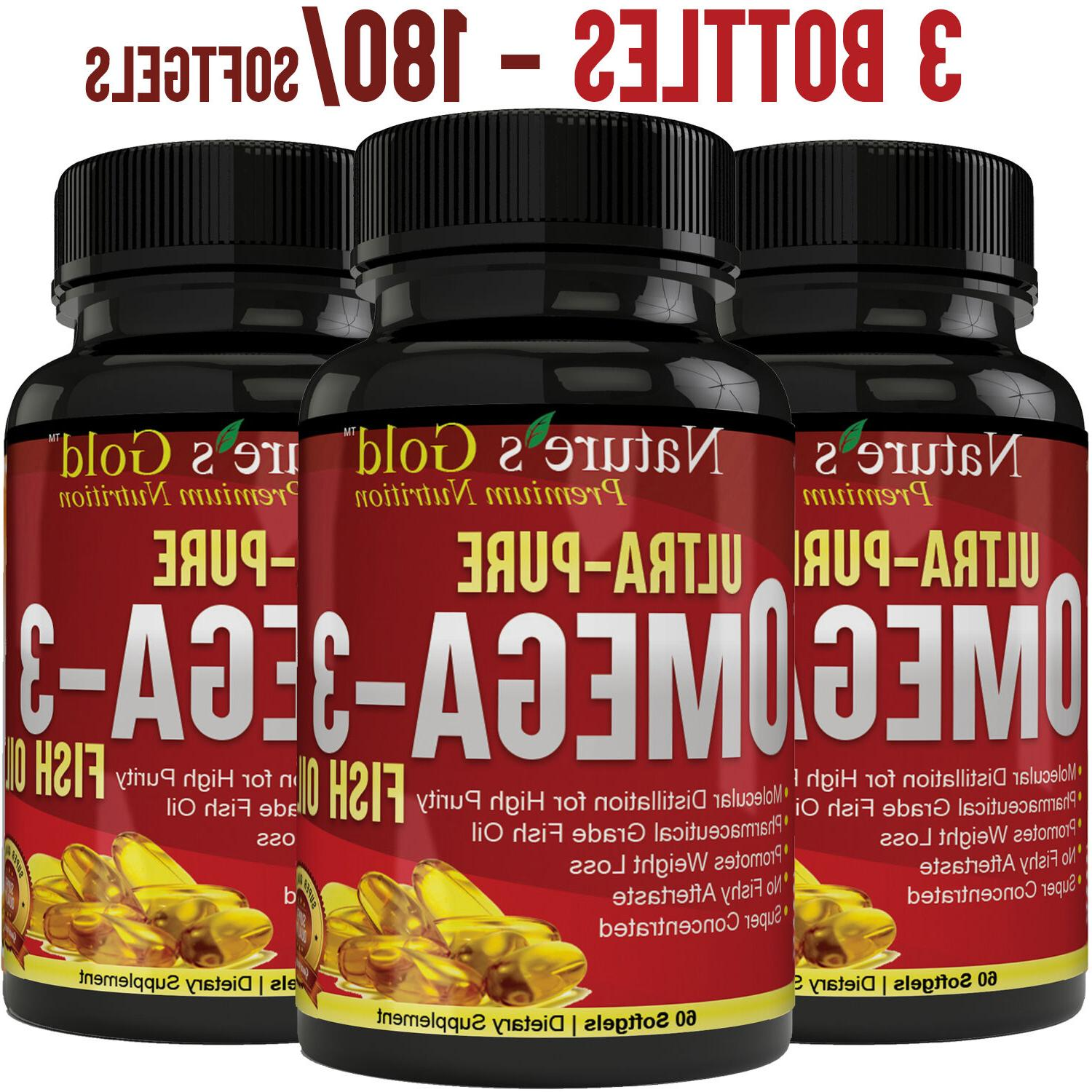 Ultra-Pure Omega 3 Fish Oil EPA, DHA - Maximum Strength, Bur