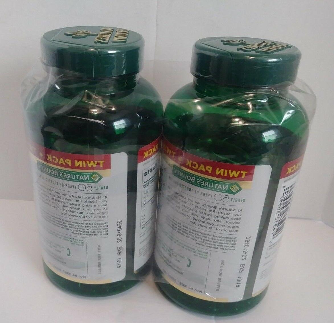 TWIN PACK Nature's Fish Oil mg 180 Each
