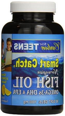 Carlson Labs Smart Catch Fish Oil for Teens, 1000mg, 90 Soft