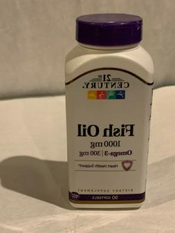 LOT OF 2  21st Century Fish Oil 1000 mg OMEGA-3 300MG  Softg