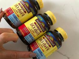 LOT OF 3 BOTTLES NATURE MADE FISH OIL 1200 mg 60 SOFTGELS ea