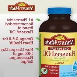 Nature Made Organic Flaxseed Oil, Omega-3-6-9 for Heart Heal
