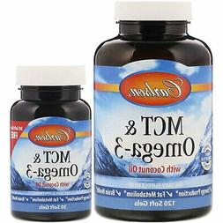 Carlson MCT & Omega-3, Fish Oil, MCTs, Organic Coconut Oil,