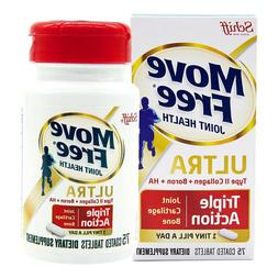 Schiff Move Free Ultra Triple Action ~ 75 Tablets ~ 7-14 Day