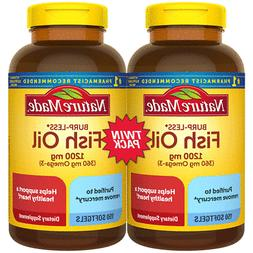 Nature Made Burp-Less Fish Oil 1,200 mg Softgels for Heart H