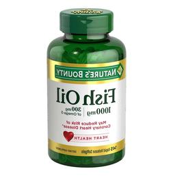 Nature's Bounty Fish Oil 1000 mg 300 Mg Of Omega-3, 220 Soft