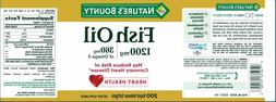 Nature's Bounty Fish Oil, 1200 mg Omega-3, 200 Rapid Release