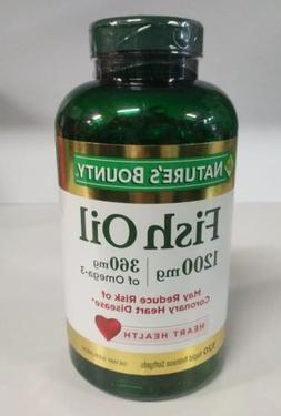 Nature s Bounty Fish Oil 1200 mg 320 Rapid Release Softgels