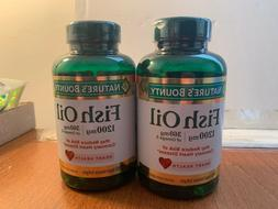 NATURE'S BOUNTY FISH OIL 1200MG 120 SOFTGELS. LOT OF 2 >EXP: