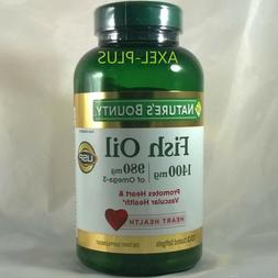 Nature's Bounty  Fish oil 1400mg, 980mg of Omega-3, 130 Soft