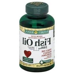 Nature's Bounty Fish Oil 2400 mg 1200 mg Of Omega-3 90 Coate