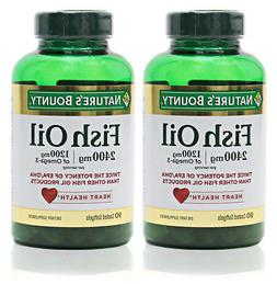 NATURE'S BOUNTY FISH OIL 2400MG 90 COUNT Pack of 2
