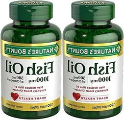 Nature's Bounty Fish Oil  1000 Mg, 240 Softgels (2 X 120 Cou