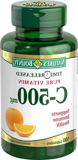 Nature's Bounty Vitamin C  500mg 100 Capsules  *Special Low